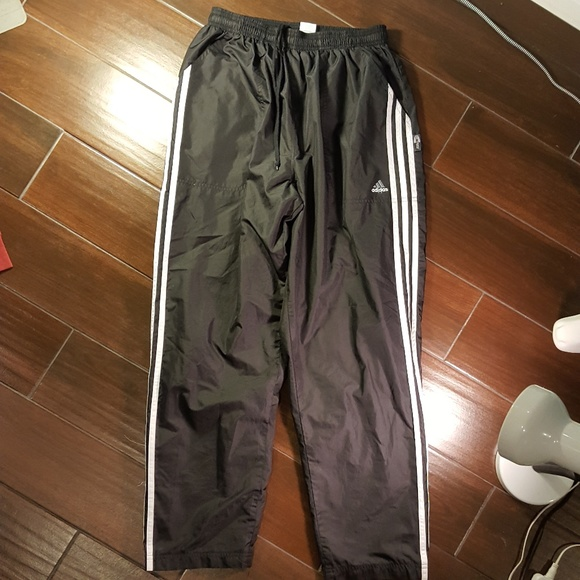 Adidas Climaproof 3 Stripe Rain/Wind Pants